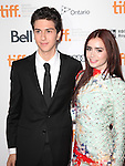 Nat Wolff & Lily Collins attending the The 2012 Toronto International Film Festival.Red Carpet Arrivals for 'Writers' at the Ryerson Theatre in Toronto on 9/9/2012