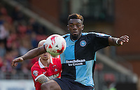 Gozie Ugwu of Wycombe Wanderers  keeps eyes on the ball during the Sky Bet League 2 match between Leyton Orient and Wycombe Wanderers at the Matchroom Stadium, London, England on 19 September 2015. Photo by Andy Rowland.
