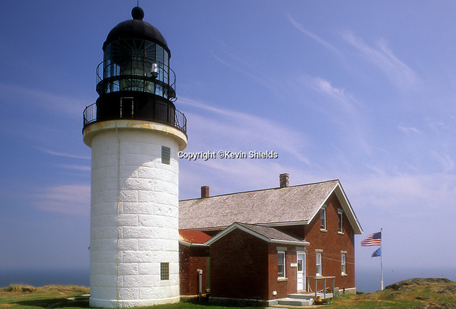Summer view of Sequin Lighthouse, Georgetown, Maine, USA