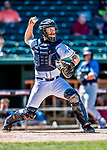 18 July 2018: New Hampshire Fisher Cats catcher Ryan Hissey in action against the Trenton Thunder at Northeast Delta Dental Stadium in Manchester, NH. The Fisher Cats defeated the Thunder 3-2 in a 7-inning, second game of the day. Mandatory Credit: Ed Wolfstein Photo *** RAW (NEF) Image File Available ***