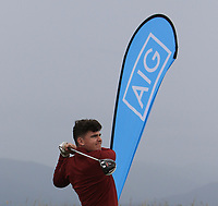 Ronan Cross (Ballybunion) on the 1st tee during the Munster Final of the AIG Junior Cup at Tralee Golf Club, Tralee, Co Kerry. 13/08/2017<br /> Picture: Golffile | Thos Caffrey<br /> <br /> <br /> All photo usage must carry mandatory copyright credit     (&copy; Golffile | Thos Caffrey)