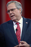 National Harbor, MD - February 27, 2015: Former Florida Governor Jeb Bush speaks to attendees of the Conservative Political Action Conference (CPAC) at National Harbor, MD, February 27, 2015.  (Photo by Don Baxter/Media Images International)