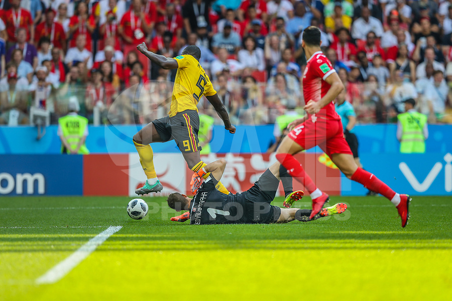 MOSCOU, RUSSIA, 23.06.2018 - BELGICA-TUNISIA - Romelu Lukaku da Bélgica durante partida contra a Tunisia jogo valido pela segunda rodada do grupo G da Copa do Mundo na Russia 2018  na Estádio Spartak em Moscou na Russia nesta sábado, 23. (Foto: William Volcov/Brazil Photo Press)