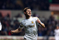 Saturday 19 January 2013<br /> Pictured L-R: Ben Davies of Swansea celebrating his opening goal.<br /> Re: Barclay's Premier League, Swansea City FC v Stoke City at the Liberty Stadium, south Wales.