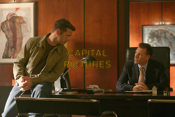 """JASON PRIESTLEY & COTTER SMITH.in Tru Calling.Season 2.""""The Last Good Day"""".*Editorial Use Only*.www.capitalpictures.com.sales@capitalpictures.com.Supplied by Capital Pictures."""