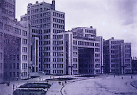 Russia:  Kharkov--Buildings for the Department of Industry and Planning, 1925-1935.  Destroyed in WW II. Rebuilt.  I. Serafimov and C. Kravetz.