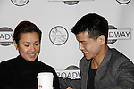 """As The World Turns Lea Salonga and Telly Leung (Glee) and both are starring in the play """"Allegiance"""" attend the first ever 3-day Broadway Con on January 22 - 24, 2016 at the Hilton Hotel, New York City, New York. (Photo by Sue Coflin/Max Photos)"""