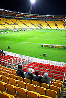 Fans start arriving for the Super Rugby final match between the Hurricanes and Lions at Westpac Stadium, Wellington, New Zealand on Saturday, 6 August 2016. Photo: Dave Lintott / lintottphoto.co.nz