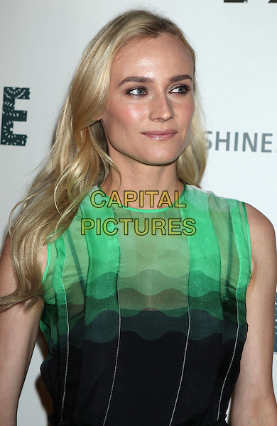 Diane Kruger  <br /> &quot;The Bridge&quot; Series Premiere held at the DGA Theatre, West Hollywood, California, USA.<br /> July 8th, 2013<br /> headshot portrait green sleeveless   <br /> CAP/ADM/RE<br /> &copy;Russ Elliot/AdMedia/Capital Pictures