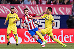 Bruno Soriano Llido of Villarreal CF (R) in action during the La Liga match between Atletico de Madrid vs Villarreal CF at the Estadio Vicente Calderon on 25 April 2017 in Madrid, Spain. Photo by Diego Gonzalez Souto / Power Sport Images