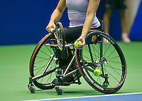 22-12-13,Netherlands, Rotterdam,  Topsportcentrum, Tennis Masters, , , Wheelchair final, Camera mounted on wheelchair<br /> Photo: Henk Koster