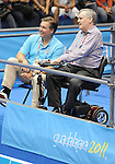 November 20 2011 - Guadalajara, Mexico:  Lieutenant Governor Honorable David Onley and Ian Troop watch Judo action at the 2011 Parapan American Games in Guadalajara, Mexico.  Photos: Matthew Murnaghan/Canadian Paralympic Committee