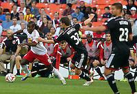 WASHINGTON, D.C - April 12 2014: D.C. United vs the New York Red Bulls in an MLS match at RFK Stadium, in Washington D.C. United won 1-0.