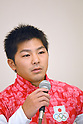 Koji Yamamuro (JPN), <br /> JULY 19, 2016 - Artistic Gymnastics : <br /> Japan Men's Artistic Gymnastics national team send-off press conference <br /> for the Rio 2016 Olympic Games in Tokyo, Japan. <br /> (Photo by AFLO SPORT)