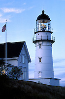 CAPE ELIZABETH LIGHTHOUSE (1874) with traditional NEW ENGLAND ARCHITECTURE- MAINE, USA