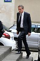 NICOLAS DUPONT-AIGNAN - OBSEQUES DE LA MERE DE NICOLAS DUPONT-AIGNAN A L' EGLISE SAINT PIERRE DU GROS CAILLOU, PARIS, 04/05/2017