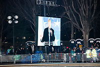 President-elect Donald Trump speaks at the Make America Great Again! Welcome Celebration honoring soon-to-be president Donald Trump at the Lincoln Memorial in  Washington, D.C., on Thurs., Jan. 19, 2017, the day before the presidential inauguration of Donald Trump. The event had musical performances, speeches, and an appearance by Trump and his family.