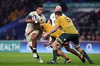 Nathan Hughes of England takes on the Australia defence. Old Mutual Wealth Series International match between England and Australia on November 18, 2017 at Twickenham Stadium in London, England. Photo by: Patrick Khachfe / Onside Images