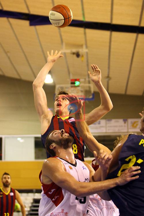 Regal XXXV Llia Nacional Catalana ACB 2014-Semifinals.<br /> FC Barcelona vs La Bruixa d'Or Manresa: 82-66.<br /> Mario Hezonja vs Dimitris Haritopoulo.