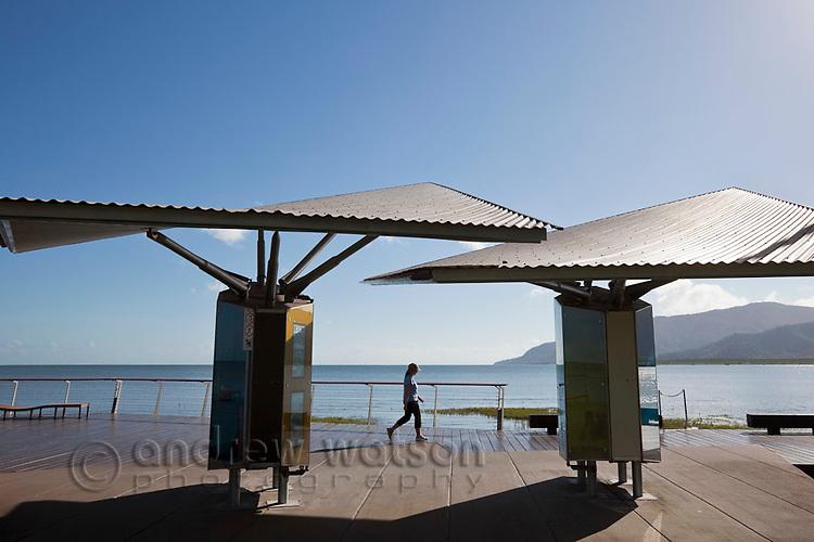 The Esplanade boardwalk.  Cairns, Queensland, Australia