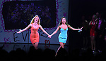 Kate Rockwell and Ashley Park during the Broadway Opening Night Performance Curtain Call of 'Mean Girls' at the August Wilson Theatre on April 8, 2018 in New York City.