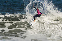 BELLS BEACH, Torquay, Victoria, Australia    (Tuesday, April 3, 2018) Stephanie Gilmore (AUS) - Top seeds continue to fall at the Rip Curl Pro Bells Beach, Stop No. 2 on the World Surf League (WSL) Championship Tour (CT), after completing men&rsquo;s Rounds 3 and 4, and the women&rsquo;s Quarterfinals in four-to-six foot (1.2 - 2 metre) conditions. <br /> <br /> Today witnessed all but three WSL Championships dispatched with John John Florence (HAW), Joel Parkinson (AUS), Adriano de Souza (BRA), and Carissa Moore (HAW) out of the draw. Now, only Mick Fanning (AUS), Stephanie Gilmore (AUS), and Gabriel Medina (BRA) represent the class of elite World Champions heading into the Final Series of the iconic Rip Curl Pro Bells Beach event. <br /> <br /> Two-time, reigning WSL Champion Florence is out of the Rip Curl Pro Bells Beach after losing to compatriot Ezekiel Lau (HAW) in the opening heat of the day. In Round 3 Heat 7, Lau put the pressure on Florence by jostling for position. Lau&rsquo;s physical assertion seemed to throw Florence off his game as he struggled to find a wave of substance. Lau, on the other hand, looked confident and powerful in that heat as well as in Round 4, where he defeated Frederico Morais (PRT) and Conner Coffin (USA). <br /> <br /> Photo: joliphotos.com