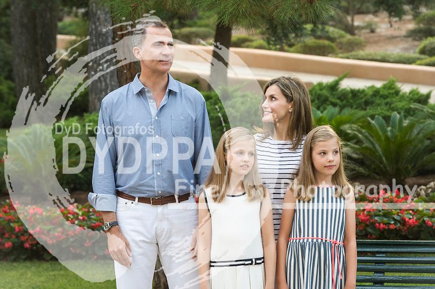 Princess of Asturias Leonor; Princess Sofia; King Felipe VI of Spain; Queen Letizia of Spain