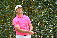 Jon Rahm (ESP) watches his tee shot on 5 during round 3 of the World Golf Championships, Mexico, Club De Golf Chapultepec, Mexico City, Mexico. 3/4/2017.<br /> Picture: Golffile | Ken Murray<br /> <br /> <br /> All photo usage must carry mandatory copyright credit (&copy; Golffile | Ken Murray)