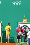 Takaharu Furukawa (JPN), <br /> AUGUST 5, 2016 - Archery : <br /> Men's Individual Ranking Round <br /> at Sambodromo <br /> during the Rio 2016 Olympic Games in Rio de Janeiro, Brazil. <br /> (Photo by Yusuke Nakanishi/AFLO SPORT)