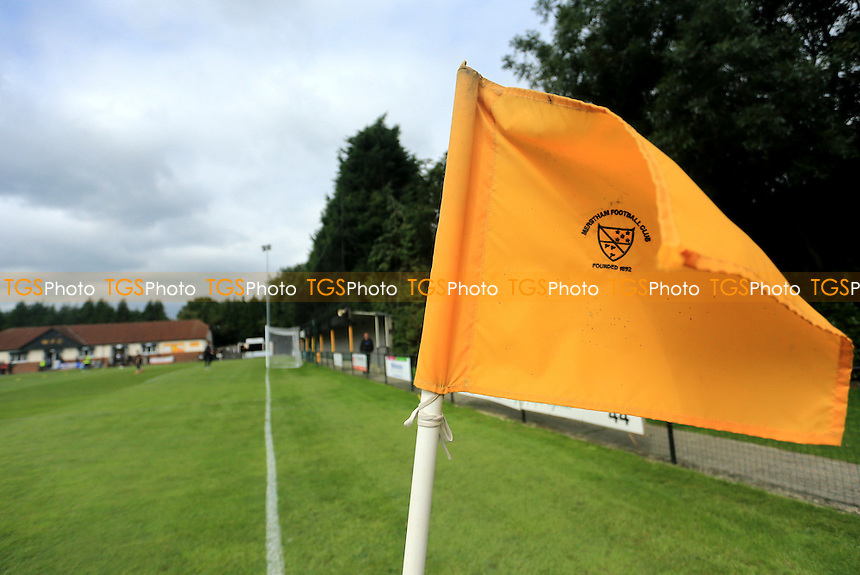General view of The Moatside Home of Merstham FC during Merstham vs Needham Market, Ryman League Premier Division Football at Weldon Way on 5th September 2015