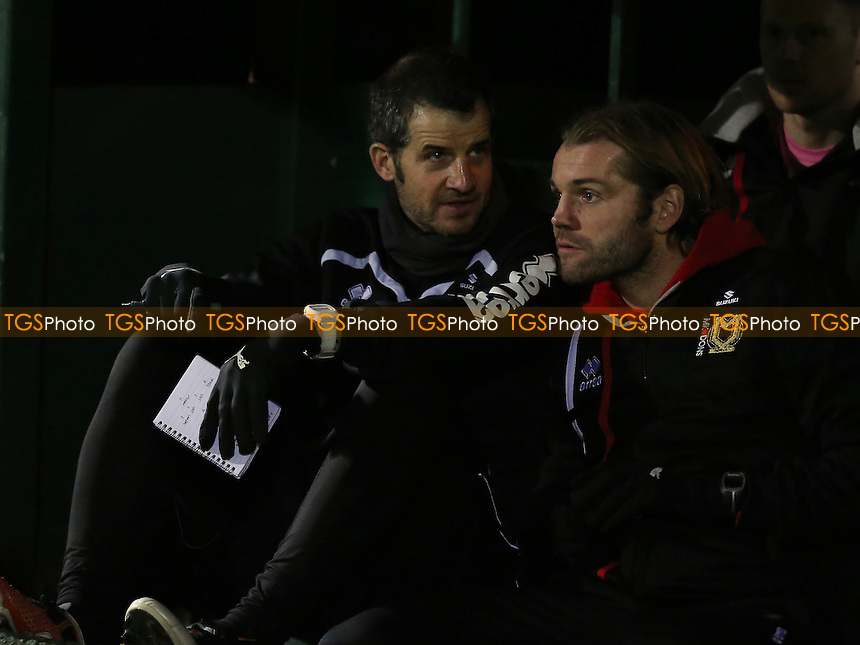 MK Dons Assistant Manager, Stevie Crawford (left) with MK Dons Manager, Robbie Neilson during Yeovil Town vs MK Dons, Checkatrade Trophy Football at Huish Park on 6th December 2016
