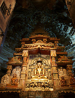shrine in  in Jain temple, Fort Jaisalmer, Rajastan, India