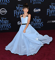29 November 2018 - Hollywood, California - Ariana Greenblatt. &quot;Mary Poppins Returns&quot; Los Angeles Premiere held at The Dolby Theatre.   <br /> CAP/ADM/BT<br /> &copy;BT/ADM/Capital Pictures