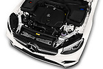 Car stock 2018 Mercedes Benz GLC Coupe base 5 Door SUV engine high angle detail view