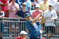 Gary Woodland (USA) tees off on the first hole during the third round of the 100th PGA Championship at Bellerive Country Club, St. Louis, Missouri, USA. 8/11/2018.<br /> Picture: Golffile.ie | Brian Spurlock<br /> <br /> All photo usage must carry mandatory copyright credit (&copy; Golffile | Brian Spurlock)