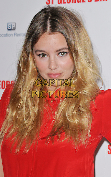 Keeley Hazell.The 'St George's Day' world film premiere, Odeon Covent Garden cinema, Shaftesbury Avenue, London, England..August 29th, 2012.headshot portrait red .CAP/WIZ.© Wizard/Capital Pictures.