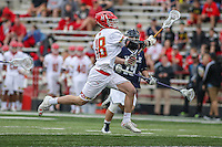 College Park, MD - February 25, 2017: Maryland Terrapins Austin Henningsen (18) runs with the ball during game between Yale and Maryland at  Capital One Field at Maryland Stadium in College Park, MD.  (Photo by Elliott Brown/Media Images International)