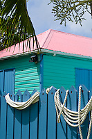 Colorful buildings on the island of Tortola, british Virgin Islands