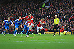 Wayne Rooney of Manchester United scores the opening goal - Manchester United vs. Sunderland - Barclay's Premier League - Old Trafford - Manchester - 28/02/2015 Pic Philip Oldham/Sportimage
