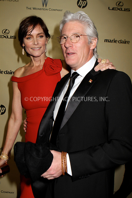 WWW.ACEPIXS.COM....January 13 2013, LA....Actor Richard Gere (R) and Carey Lowell arriving at The Weinstein Company's 2013 Golden Globe Awards after party at The Beverly Hilton Hotel on January 13, 2013 in Beverly Hills, California. ........By Line: Nancy Rivera/ACE Pictures......ACE Pictures, Inc...tel: 646 769 0430..Email: info@acepixs.com..www.acepixs.com