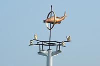 ALGEMEEN: STAVOREN: 30-04-2014, De windrichting aanduiding bij de nieuwe Johan Frisosluis, ©foto Martin de Jong