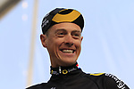 Niki Terpstra (NED) Direct Energie team on stage at sign on before the 2019 Gent-Wevelgem in Flanders Fields running 252km from Deinze to Wevelgem, Belgium. 31st March 2019.<br /> Picture: Eoin Clarke | Cyclefile<br /> <br /> All photos usage must carry mandatory copyright credit (© Cyclefile | Eoin Clarke)