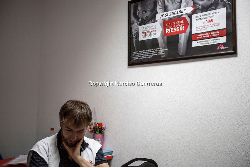 June 15, 2018: Jesus Toro, risponsable in-charge of communication at MSF (Doctors Without Borders) in Acapulco, Guerrero.