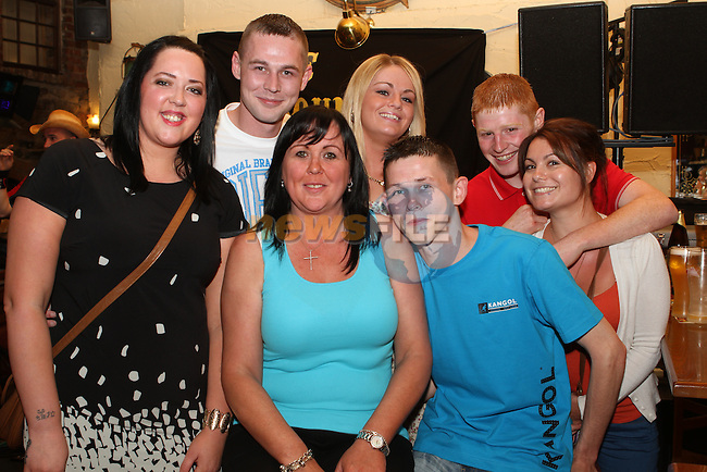 Laura, Ross, Rosie and Ryan Stewart with Christine Johnston, Niall Smith and Aurelia Durbano at the SOSAD Charity Event in the Mariner...(Photo Jenny Matthews/www.newsfile.ie)