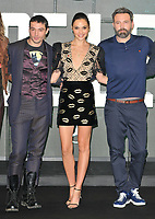 Ezra Miller, Gal Gadot and Ben Affleck at the &quot;Justice League&quot; press photocall, The College, Southampton Row, London, England, UK, on Saturday 04 November 2017.<br /> CAP/CAN<br /> &copy;CAN/Capital Pictures