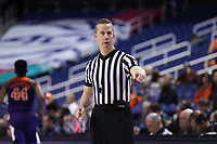 GREENSBORO, NC - MARCH 6: Official Mark Resch during a game between Clemson and Boston College at Greensboro Coliseum on March 6, 2020 in Greensboro, North Carolina.