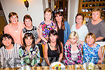 front l-r Jane Lynch, Noreen Murphy, Mary Costello, Samantha Breewood, Trish Breewood Back l-r Laura O'Sullivan, Annette Costello, Phill Boyle, Annette  Buschtoens, Nora Connor, Marie Farrell having a Lang's from strand Road family reunion at Bella Bia's on Friday
