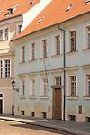 Street near the Prague Castle in Prague, Czech Republic.