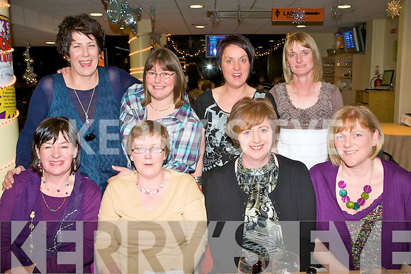 GREYHOUND FUN: The ex-staff of Goblin enjoying a girls night out get together at the Kingdom Greyhound Stadium Night at the Dogs on Saturday seated l-r: Imelda Cooke-Daly, Ballyduff, Michelle Cahill, Tralee and Tesie McCrohan and Martha Leen, Banna. Back l-r: Joan McGrath, Lixnaw, Michelle Bowler and Moira Casey, Ballyheigue, and Pauline Fitzmaurice, Tralee..