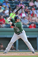 First baseman Skyler Ewing (25) of the Augusta GreenJackets bats in a game against the Greenville Drive on Thursday, June 9, 2016, at Fluor Field at the West End in Greenville, South Carolina. Augusta won, 8-2. (Tom Priddy/Four Seam Images)
